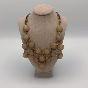 Francesca's Tan and Gold Statement Necklace